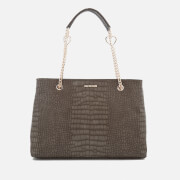 Love Moschino Women's Croc Shopper Tote Bag - Grey