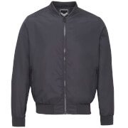 Brave Soul Men's Sanjay Padded Bomber Jacket - Charcoal