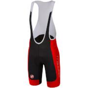 Castelli Evoluzione 2 Bib Shorts - Black/Red