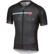 Castelli Aero Race 5.1 Jersey - Anthracite/Pale Blue