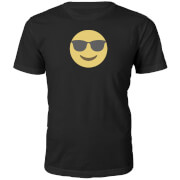 Cool Dude Emoji Heren T-Shirt - Zwart