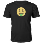 Dollartekens Emoji Heren T-Shirt - Zwart
