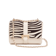 Aspinal of London Women's Lottie Bag - Ivory and Zebra