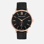 Larsson & Jennings Small Kulor 38mm Leather Watch - Rose Gold/Black