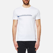 BOSS Green Men's Stripe Logo T-Shirt - White