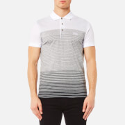 BOSS Green Men's Paddy 3 Stripe Polo Shirt - Grey Melange
