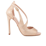 Carvela Women's Geep Metallic Heeled Sandals - Metal Comb