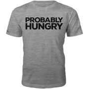 Männer Probably Hungry T-Shirt - Grau