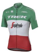 Sportful Trek-Segafredo BodyFit Pro Team Italian Champion Short Sleeve Jersey - White/Green/Red