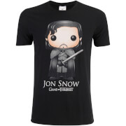 T-Shirt Homme Game of Thrones Jon Snow Funko - Noir
