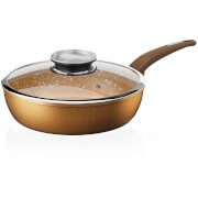 Tower T81202GD Forged Saute Pan with Cerastone Coating Gold (28cm)