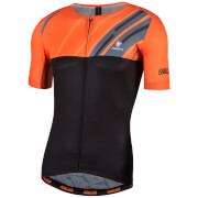 Nalini Roma Race Short Sleeve Jersey - Black/Orange