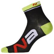 Nalini Logo Socks H13 - Black/Fluo