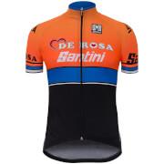 Santini De Rosa 17 Jersey - Black/Orange