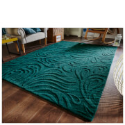Flair Relief Paisley Rug - Teal