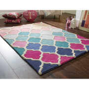 Flair Illusion Rosella Rug - Pink/Blue