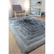 Flair Verge Ridge Rug - Black/Grey