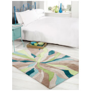 Flair Infinite Splinter Rug - Teal/Green