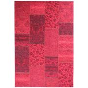 Flair Manhattan Patchwork Rug - Chenille Red