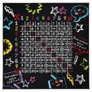 Flair Matrix Kiddy Rug - Multiplication Black (133X133)