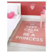 Tapis Matrix Thèmes Flair Rugs - Princesse Rose/Blanc (100X160)