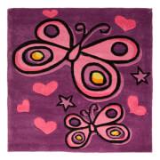 Flair Kiddy Play Rug - Butterfly Purple (90X90)