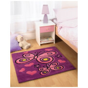 Flair Kiddy Play Rug - Butterfly Purple (90X90)