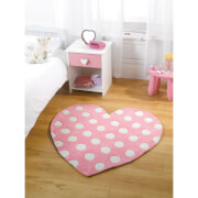 Flair Kiddy Play Rug - Polka Heart Pastel Pink(90X90)