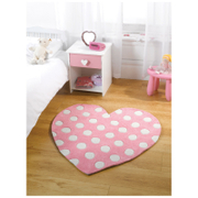 Tapis Flair Kiddy Play Rugs - Cœur à Pois (90X90)
