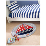 Tapis Flair Kiddy Play Rugs - Bateau Ahoy Bleu (90X90)