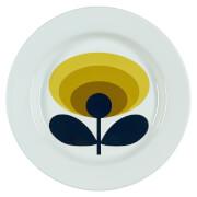Orla Kiely Enamel Plate 70's Flower - Dandelion