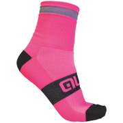 Alé Reflex 10cm Cuff Cycling Socks - Pink/Black