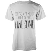 T-Shirt Homme Eat Awesome -Blanc