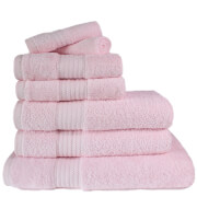 Restmor 100% Egyptian Cotton 7 Piece Supreme Towel Bale Set (500gsm) - Pink