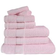 Restmor 100% ägyptische Baumwolle 7-Teil Supreme Badetuch-Set - Pink