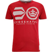 T-Shirt Homme Crossout Crosshatch -Rouge