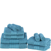 Highams 100% Egyptian Cotton 10 Piece Towel Bale (500 gsm) - Teal