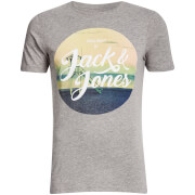 Jack & Jones Men's Originals Travel T-Shirt - Light Grey Marl