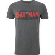 DC Comics Men's Batman Authentic Logo T-Shirt - Grey