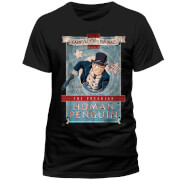 DC Comics Men's Batman The Penguin Carnival of Criminals T-Shirt - Black