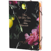 Ted Baker Citrus Notebook with Sticky Notes