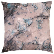 Marble Print Cushion - Purple