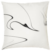 Marble Print Cushion - White