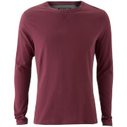Brave Soul Men's Prague Long Sleeve Top - Burgundy