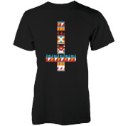 Abandon Ship Aztec Cross Heren T-shirt - Zwart