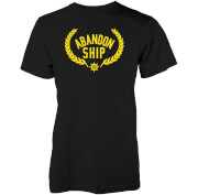 Abandon Ship Golden Crest Logo Heren T-shirt - Zwart