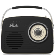 Akai Retro Vintage Portable Wireless AM/FM Radio - Black