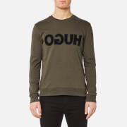 HUGO Men's Dicagor Reverse Logo Crew Sweatshirt - Dark Green