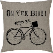 On Yer Bike Cushion - Black (45 x 45cm)