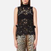 Ganni Women's Duval Lace Top - Black